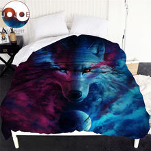 Where Light And Dark Meet by JoJoes Duvet Cover Queen 3D Wolf Soft Bed Cover Art Print Bedspreads 1-Piece housse de couette(China)