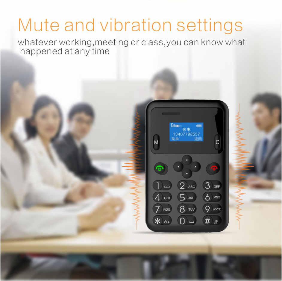 AEKU A6 ミニクレジットカード携帯電話 0.96 インチ小型画面ポケットミニ携帯電話デュアルバンド超薄型電話 PK m5 C6