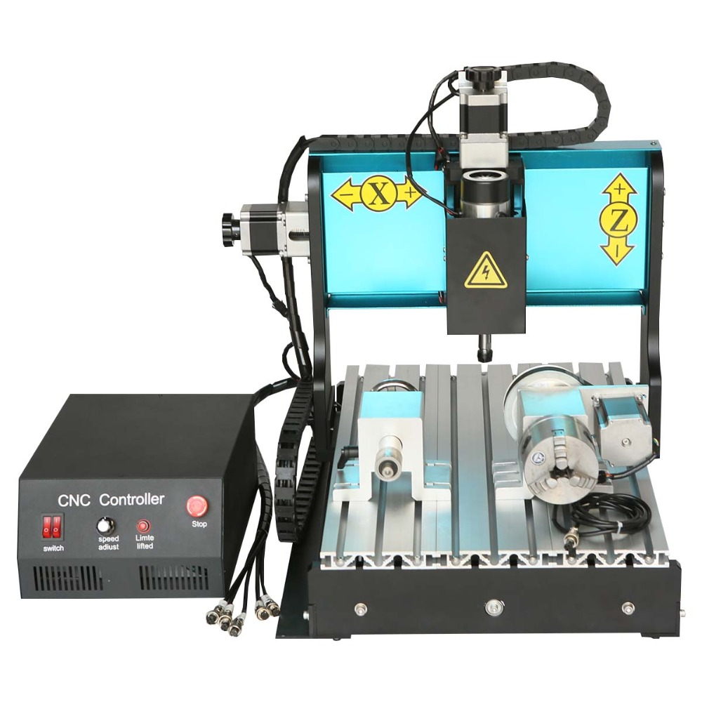 JFT CNC 3040 Router 300W 4 Axis with Parallel Port  Machine Engraving Cutting Water Cooling Spindle  Woodworking Carving Machine  cnc router 3020z d 300w spindle 3 or 4axis cnc cutting machine