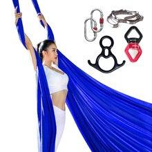 PRIOR FITNESS 8.2M najwyższej jakości 9 jardów joga powietrzne jedwabie zestaw do akrobatycznego Fly spektakl taneczny sprzęt inwersja hamak