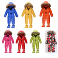Baby Girl Boy down and parkas newborn fur collar overalls winter romper clothes thermal snowsuit rompers Children jumpsuit