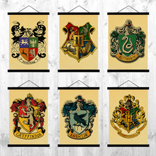 Vintage Harry Potter magical Logo movie posters home decora kraft paper High Quality Printed  Painting wall stickers