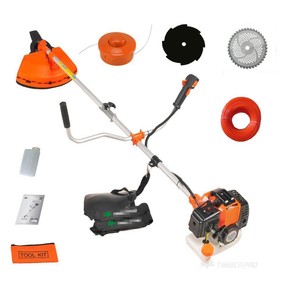 Professional 52cc Heavy Duty 5 in1 Petrol Strimmer Grass Trimmer, Brush/Bush Cutter Whipper Snipper 4 Blades tool trimme line