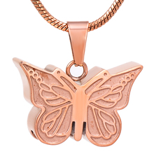 IJD8051 Stainless Steel Cremation Keepsakes Pendant Ashes Urn Dainty Butterfly Memorial Necklace Pendant Jewelry stainless steel cremation jewelry angel wings pendant memorial urn necklace