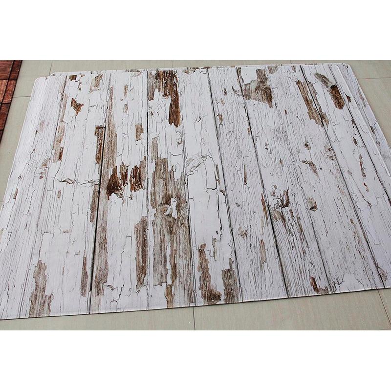 Rubber Floor Photo Background Floor Customize Printed Vintage Wood Newborn Backdrop Anti slip Rubber Backed Mat