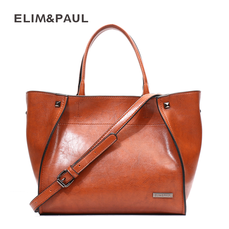 ELIM&PAUL Women Shoulder Bags Fashion Trapeze Leather Crossbody Bag Women Handbags Women Bag Female Purse Designer Sac a Main chaoliubang novelty women leather handbags letters printing wings flap bag mini crossbody bags for women shoulder purse sac a