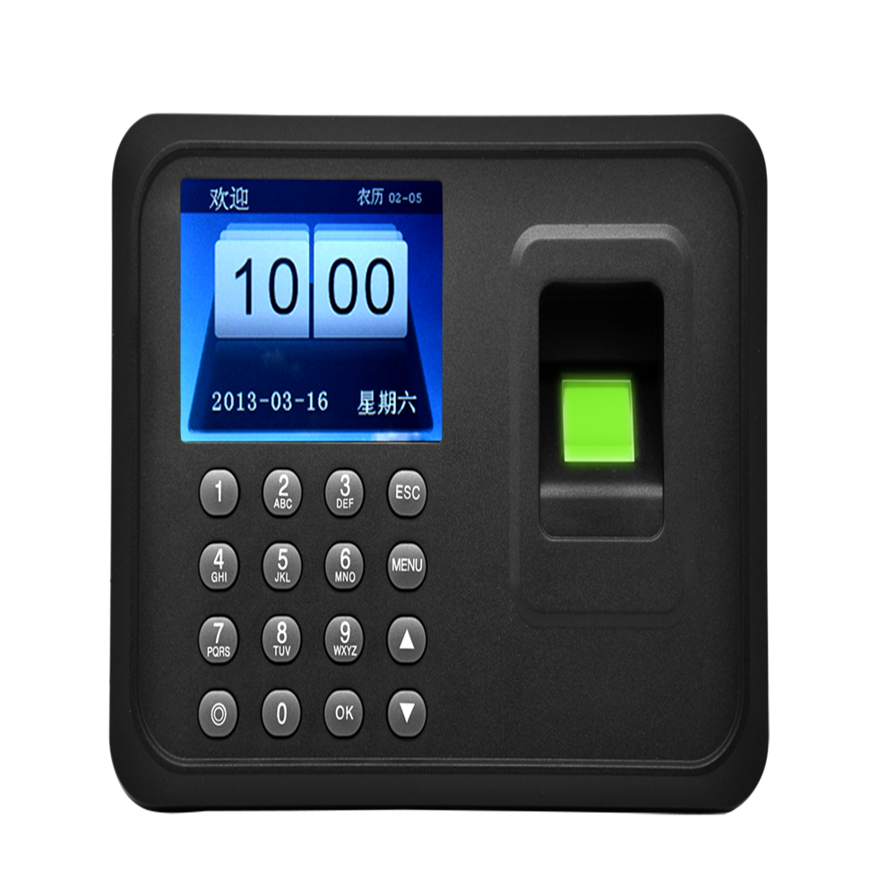 3026 Biometric Time Attendance Machine System Time Tracking Device In English Spanish Color Screen Fingerprint Machine