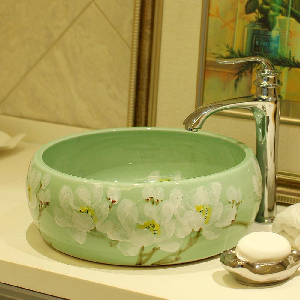 Stage basin Jingdezhen ceramic bathroom vanity washbasin washbasin art basin Yu Baimei LO6181142