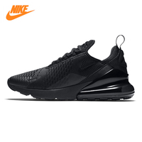 NIKE AIR MAX 270 Men's Running Shoes, Black, Shock Absorption Wear resistant Breathable Lightweight AH8050 005