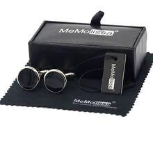 Memolissa витринная коробка запонки Классические черные круглые