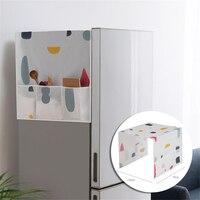 Casa geladeira capa de poeira à prova dwaterproof água geladeira capa poeira congelador doméstico superior sacos de armazenamento portátil geladeira