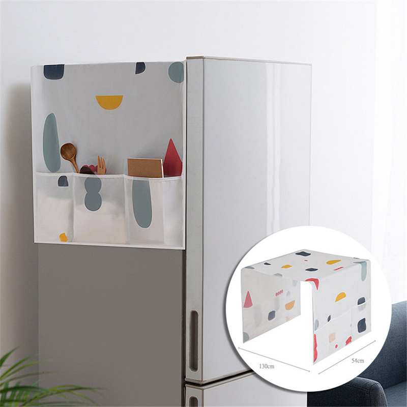 Home Refrigerator Dust Cover Waterproof Refrigerator Dust Cover Household Freezer Top   Bags Fridge Portable Storage Bags