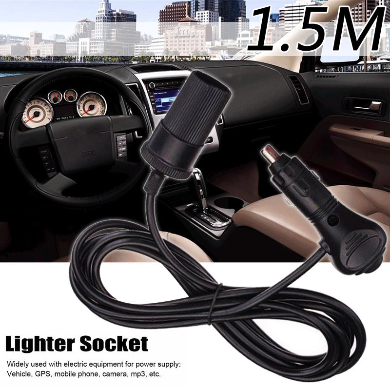 Hot Sale Voltage 12V Universal Car Vehicle Cigarette Lighter Socket Extension Cord Cable Adapter for Car Auto Interior Parts 1.5 bb1 детям