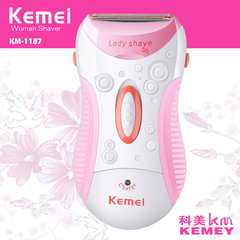 KEMEI Electric Female Epilator Razor Lady Shaver Women Girl Hair Removal for Facial Body Armpit Leg Professional Female Care