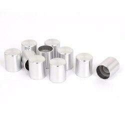 10 Uds rotativos, con Control de volumen perillas aleación de aluminio perilla de potenciómetro para 6mm de diámetro eje moleteado potenciómetro envío gratis