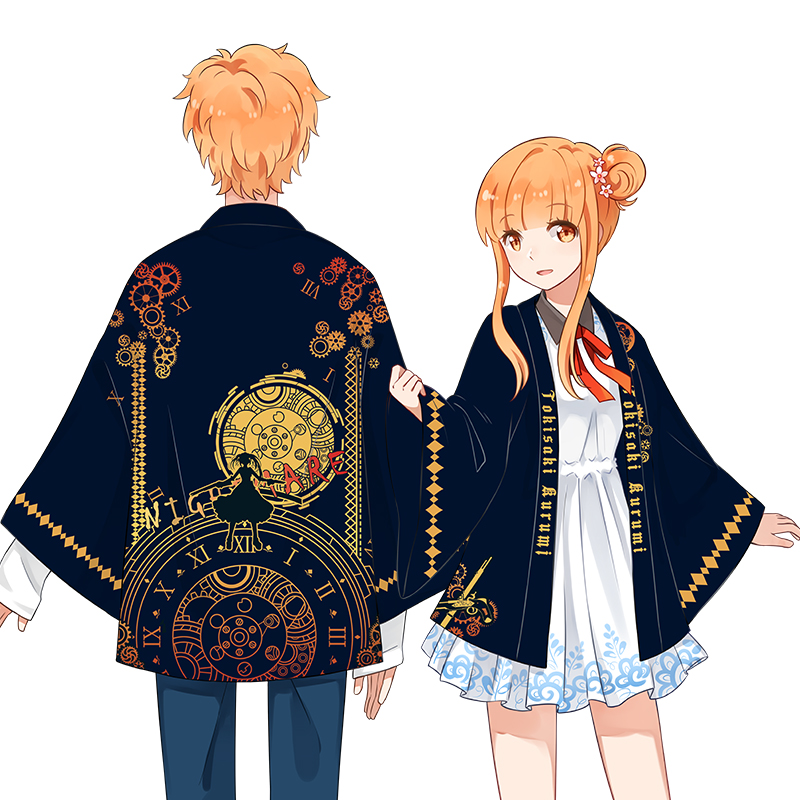 Anime DATE A LIVE Tokisaki Kurumi Cosplay Costumes Kimono Yukata Outerwear Casual Coat Women Men s