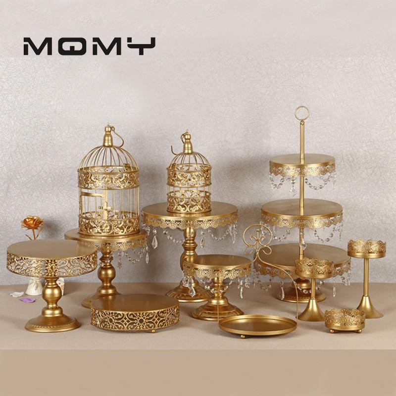 12 pièces support à gâteau en or supports à Cupcake ronds présentoir à Dessert en métal avec pendentifs et perles, or-in Décoration de gâteau from Maison & Animalerie    1