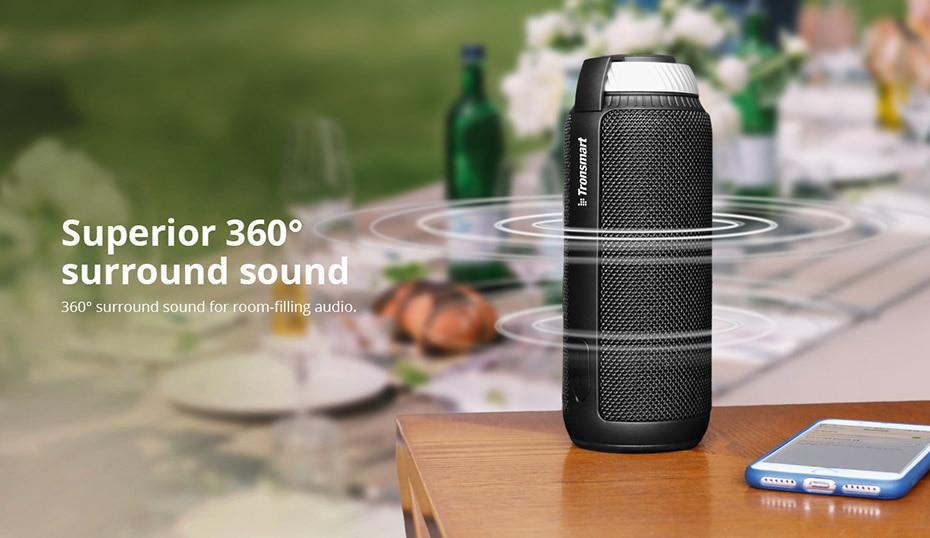 Tronsmart Element T6 Bluetooth 4.1 Портативный динамик Беспроводной звуковой проигрыватель Аудио-ресивер Мини-колонки USB AUX для музыки MP3 Player3