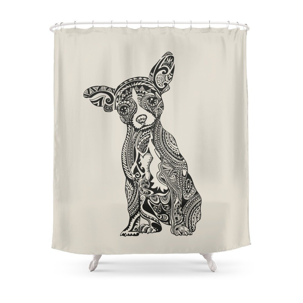 Polynesian Chihuahua Shower Curtain In Curtains From Home Garden On Aliexpress