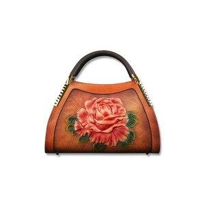 Image 5 - Johnature hakiki deri Vintage kabartma kadın çanta 2020 yeni moda rahat kadın dana eğlence omuz ve Crossbody çanta
