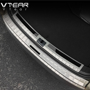 Image 5 - Vtear For Skoda Kodiaq body Accessories cover rear bumper protection car Exterior Chromium Styling interior car styling 2019