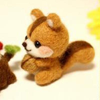 Image 2 - Handmade Pets Toy Doll Wool Felt Needle Poked Kitting DIY Cute Animal Dog Panda Rabbit Wool Felting Package Non Finished-in DIY Package from Home & Garden