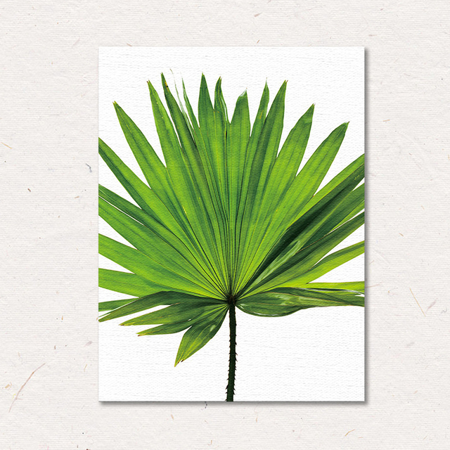 Watercolor Tropical Plants Leaves Wall Art Canvas Posters and Prints Minimalist Painting Wall Pictures for Bedroom Home Decor