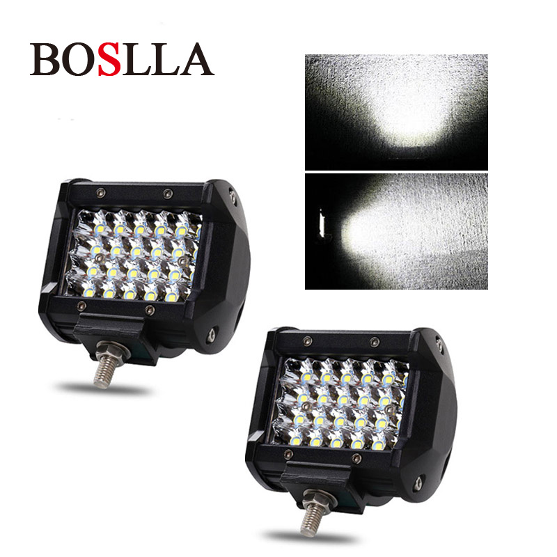 Led Car Work Light Offroad 4x4 work led Bar 12v Off Road 72W Flood Spot Working Led Driving Headlight for ATV SUV 2pcs BOSLLA блок питания пк corsair rm750i 750w cp 9020082 eu