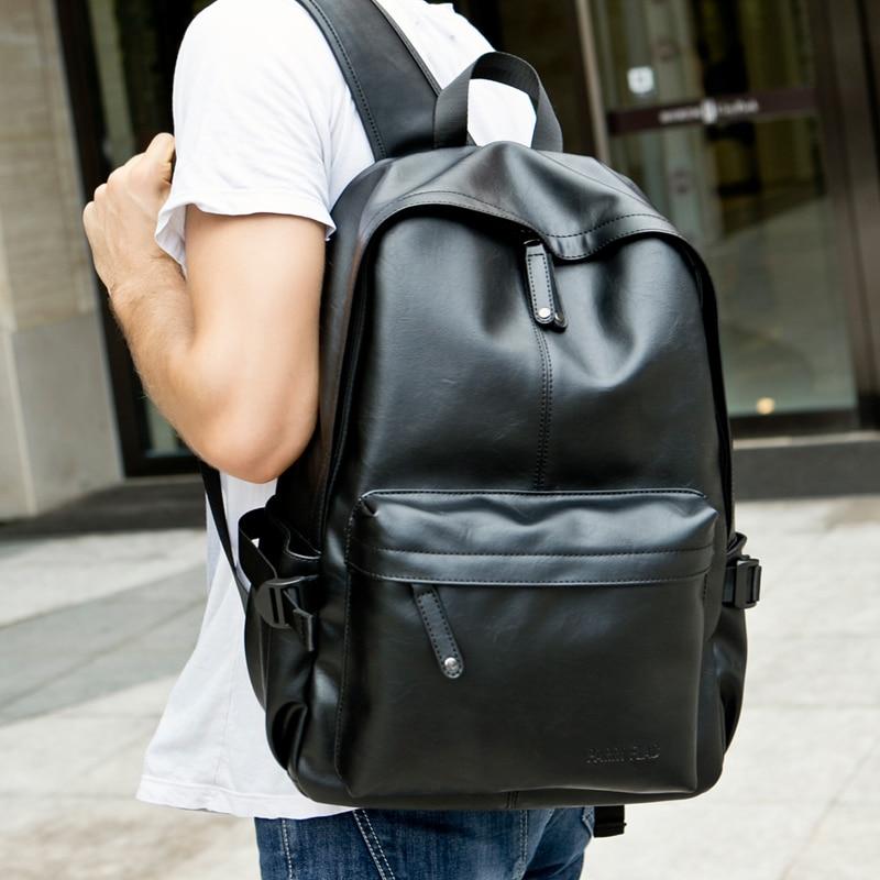 Men 100 Genuine Leather Large Capacity font b Laptop b font Travel Fashion font b Backpack