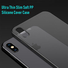0.03 Fitted Case For iphone xr case Capinhas Ultra Thin Slim Soft PP Silicone Cover  x 7 8 6 5s