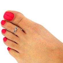 Vogue Nice Chic Simple Silver/Gold Tone Infinity Summer Beach Toe Ring(China)
