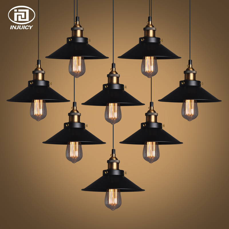 Vintage Industrial Ceiling Lamp  American Style Edison Pendant Lights Fixtures Cafe Bar Dining Living Room Restaurant Lighting nordic american edison bulb loft industrial glass stone point ceiling lamp vintage pendant lights cafe bar dining room light