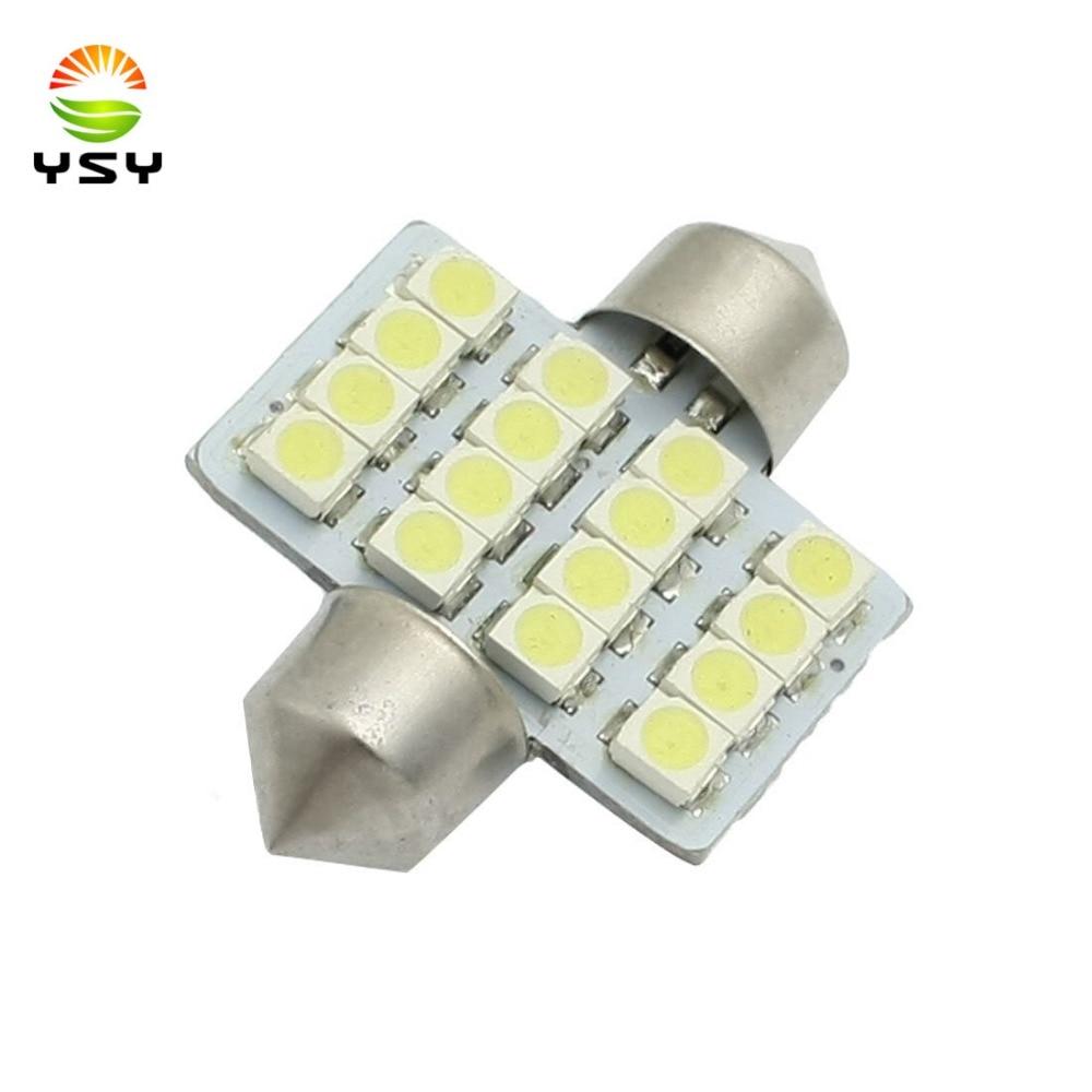 2pcs white 31mm/36mm/39mm/41mm 1210 3528 16SMD DE3175 DE3022 LED Bulbs For Car Interior Lighting Reading Lights Dome Light