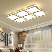 Ultra cienkie montowane na powierzchni nowoczesne lampy sufitowe Led lamparas de techo prostokątne akrylowe/kwadratowe lampy sufitowe Oświetlenie sufitowe Lampy i oświetlenie -