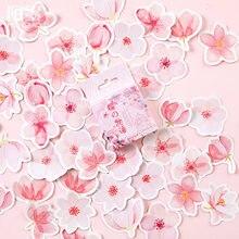 45 unidades/pacote cereja sakura palavras adesivos decorativos adesivos adesivos adesivos diy decoração diário papelaria adesivos