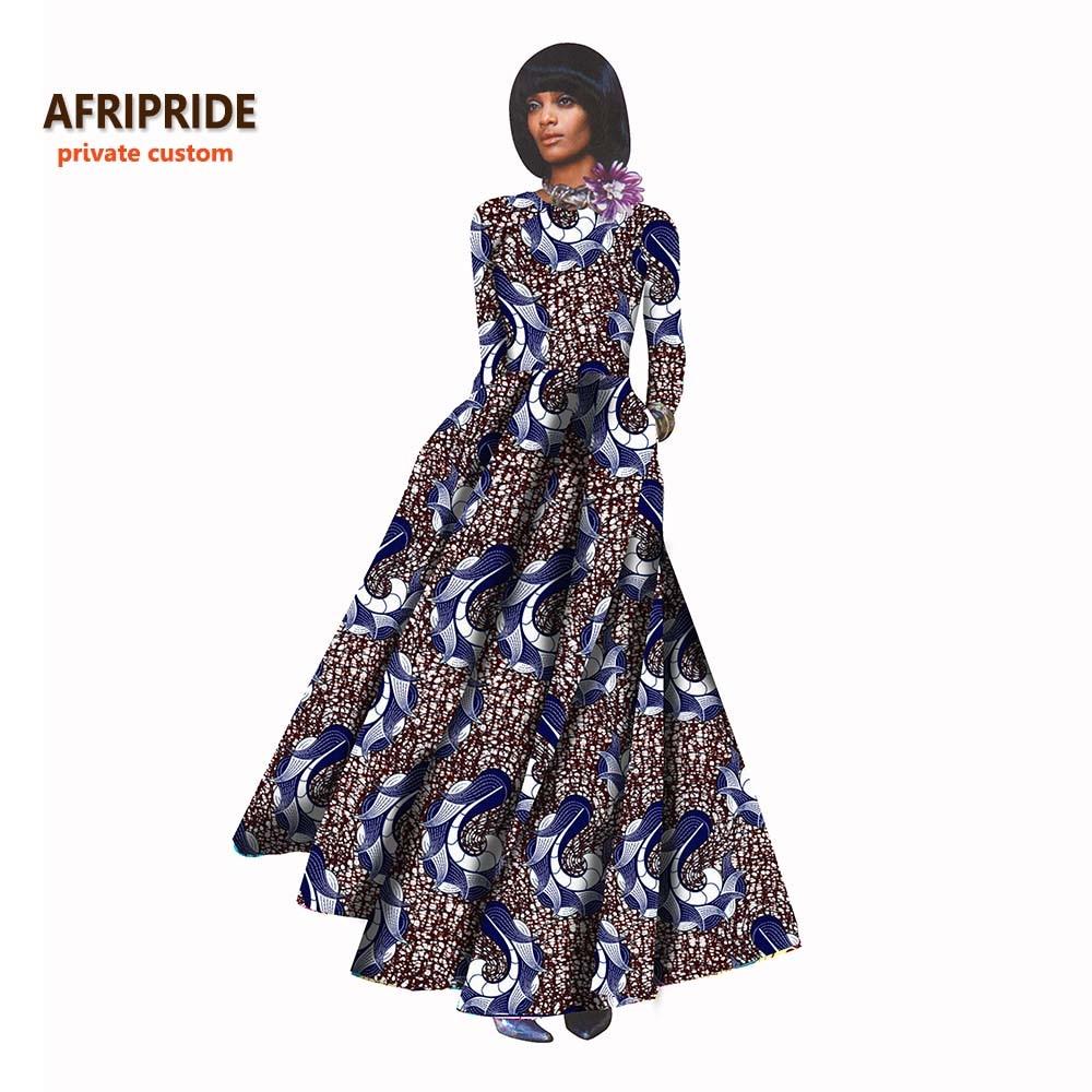 18 Nuevos vestidos africanos para mujer estilo bazin riche femme ropa africana elegante dama de impresión de cera más tamaño vestido de fiesta A722506