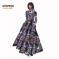 18 New african dresses for women bazin riche style femme african clothes graceful lady print wax plus size party dressA722506