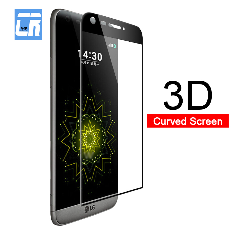 3D Full Curved Cove Tempered Glass For LG G5 G8 V30 V35 V30 Plus Protector Screen Protective Film LG V40 V50 Toughened Glass