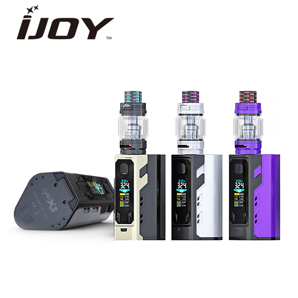 Original IJOY Captain X3 324W 20700 TC Kit with 8ml Captain X3 Tank & Big Color OLED Screen No 18650 Battery Huge Power Vape Kit original ijoy saber 100 20700 vw kit max 100w saber 100 kit with diamond subohm tank 5 5ml