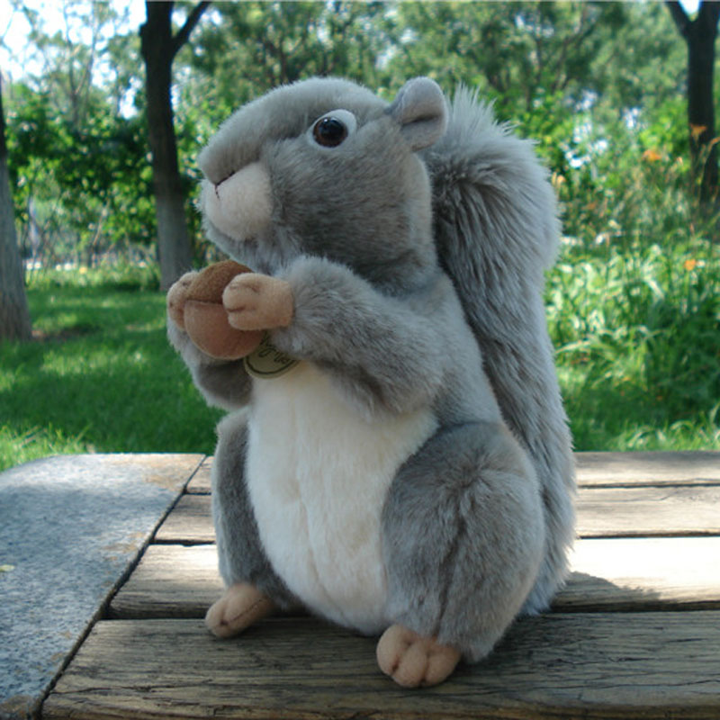 Lovely Cartoon Squirrel Plush Toy About 22cm Soft Doll Baby Toy Birthday Gift H0916