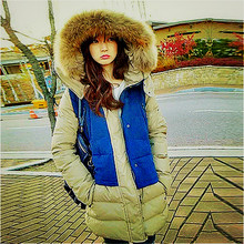 Пушистый капюшоном пальто меховой воротник меховой подкладке пальто 5xl парки для девочек зима 2016 doudoune femme feminino женщин стеганые пальто