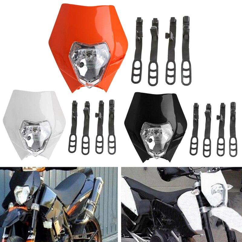 Universal Moto Vélo Head Light Dirt Couvercle De Protection Motocross Supermoto Phare pour KTM SX EXC XCF Projecteur CSL2017