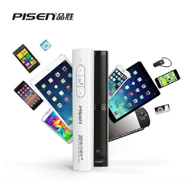PISEN Марка 2500 мАч Power Bank 2.4 ГГц Беспроводная Лазерная Ручка С Пульт Дистанционного Управления Лазерная Указка PPT Ведущий Ручка Nano для Windows
