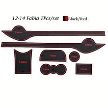 Car Styling per Skoda Fabia 2012-2014 Porta Slot Pad Porta Scanalatura Zerbino Tazza Zerbino Interni antiscivolo zerbino s Polvere Zerbino Styling Accessori