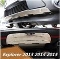 Передний + задний бампер диффузор протектор Защита противоскользящая пластина для Ford Explorer 2013 2014 2015 по EMS