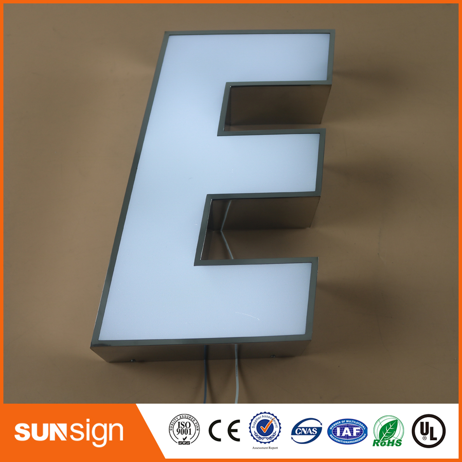 NEW ARRIVAL Acrylic Letter Shaped Lighting Channel Letter Sign Board