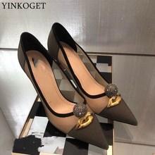05e94765b171e YINKOGET تنفس شبكة مثير أزياء المرأة الكعب أحذية الصيف بارد عالية الكعب  الفتيات عالية الكعب أحذية