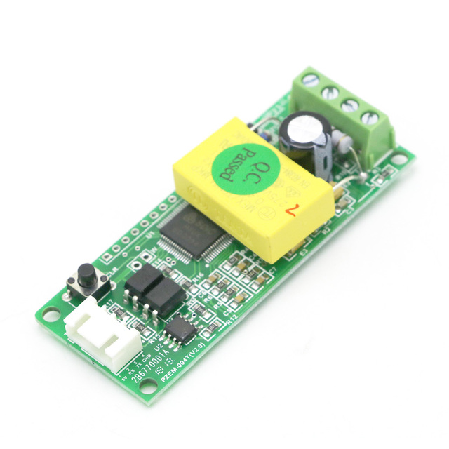 AC 80-260V 100A Electric Monitoring And Communication Module TTL Port Power Energy Meter Monitor Voltmeter with CT coil