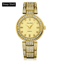 Deepshell Hot Sale Luxury Wristwatch Ladies Silver Contracted Electronic Alloy Straps Casual Outdoor Fashion Quartz Watch Women