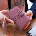 Women Fringe Faux Leather Clutch Wallet Credit Card Holder Cute Tassel Ladies Card Holders ID Holder 6N12-23